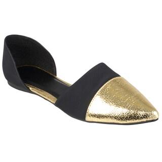 Journee Collection Women's 'Mila-45' Slip-on Metallic Flats