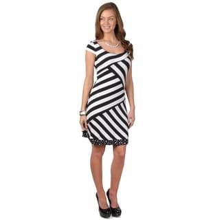 Journee Collection Women's Cap Sleeve Reversible Dress