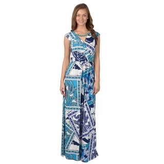 Sangria Women's Sleeveless Surplice Maxi Dress