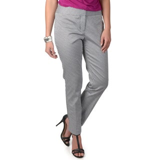 Journee Collection Women's Wide Waist Checkered Print Pants