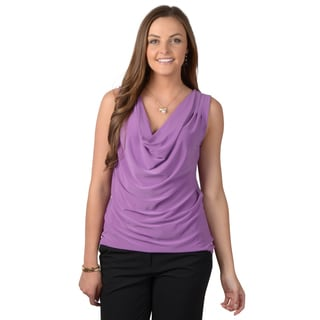 Journee Collection Women's Sleeveless Drape Neck Shell Top