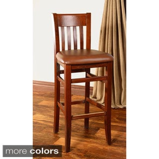 Jacob Wood and Leatherette Bar Stool