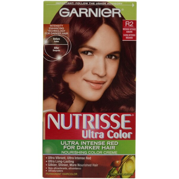 Nutrisse Nourishing R2 Medium Intense Auburn Permanent Hair Color