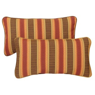 Corded 12 x 24-inch Indoor/ Outdoor Lumbar Pillows (Set of 2)