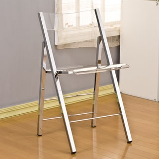 Pure Decor Acrylic Folding Chair - Set of 2