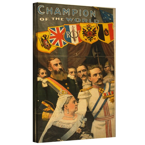 ArtWall American School( 19th Century ) 'Champion of the World' Gallery-Wrapped Canvas