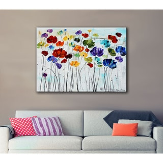 ArtWall Jolina Anthony 'Lilies' Gallery-Wrapped Canvas