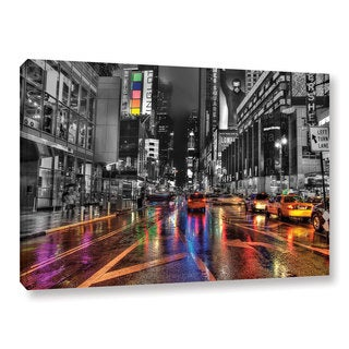 ArtWall Revolver Ocelot 'NYC' Gallery-Wrapped Canvas
