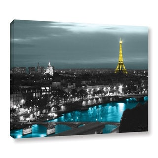 ArtWall Revolver Ocelot 'Paris' Gallery-Wrapped Canvas