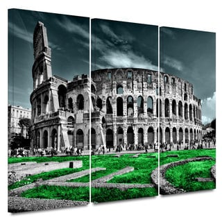 ArtWall Revolver Ocelot 'Rome' 3 piece Gallery-Wrapped Canvas