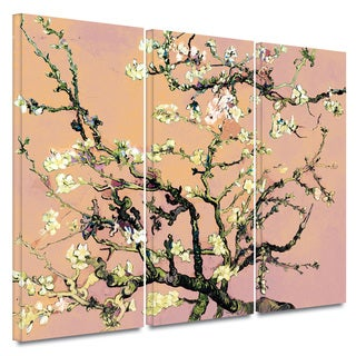 Art Wall Vincent van Gogh '3-Piece Almond Blossom-Interpretation in Eggshell Pink' gallery wrapped canvas