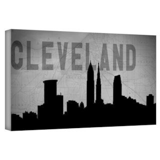 ArtWall Art Sandcraft 'Cleveland' Gallery-Wrapped Canvas