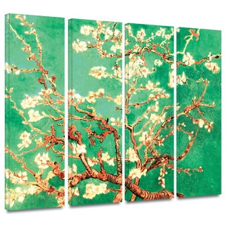 Art Wall Vincent van Gogh '4-Piece Almond Blossom-Interpretation in Emerald Green' gallery wrapped canvas