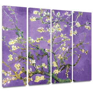 Art Wall Vincent van Gogh '4-Piece Almond Blossom-Interpretation in Iris Violet' gallery wrapped canvas