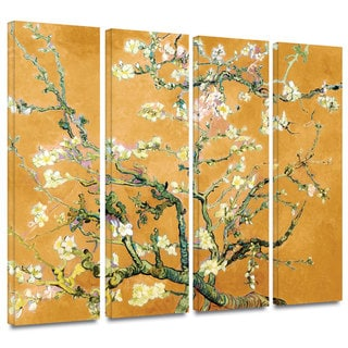 Art Wall Vincent van Gogh '4-Piece Almond Blossom-Interpretation in Marigold Orange' gallery wrapped canvas