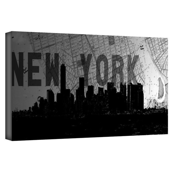 ArtWall Art Sandcraft 'New York' Gallery-Wrapped Canvas