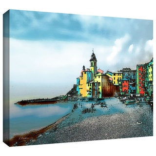 ArtWall Linda Parker ': Camogli , Italy Beachside - Signed ' Gallery-Wrapped Canvas