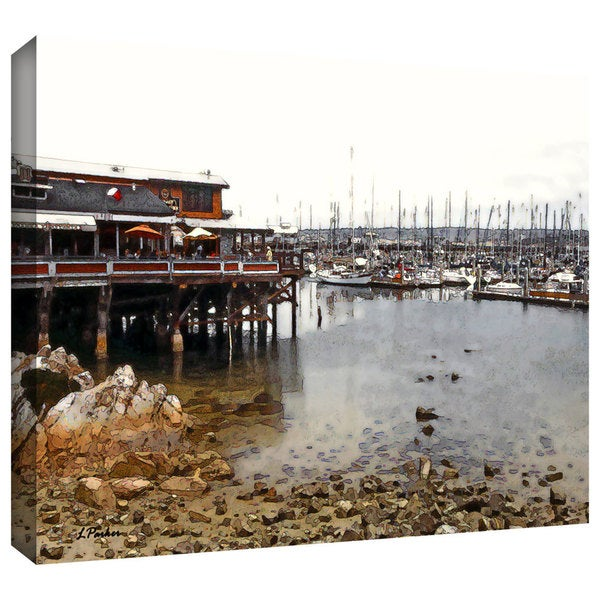 ArtWall Linda Parker ': Old Fisherman's Wharf - California ' Gallery-Wrapped Canvas