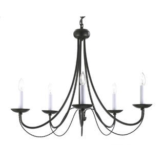 Gallery Versailles 5-light Black Wrought Iron Chandelier