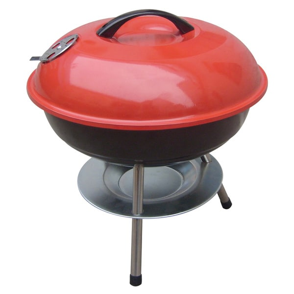 Brentwood BB-14 Red/ Black 14-inch BBQ Grill