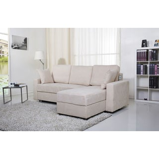 Aspen Pearl Convertible Sectional Storage Sofa Bed