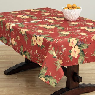Hibiscus Brick Indoor/Outdoor Zipper Tablecloth