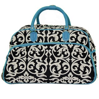 World Traveler Damask 21-inch Carry-on Rolling Duffle Travel Bag