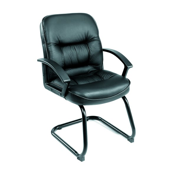 Boss Mid Back Leatherplus Guest Chair with Cantilever Base