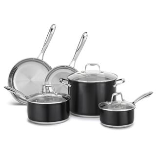 KitchenAid Stainless Steel Onyx Black 8-Piece Cookware Set