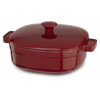 KitchenAid Streamline Empire Red Cast Iron 4-quart Casserole
