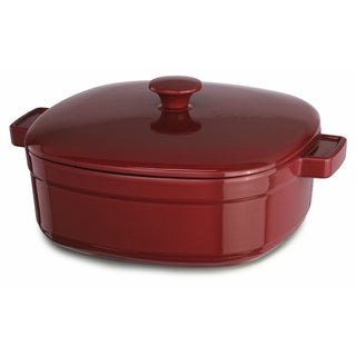 KitchenAid Streamline Empire Red Cast Iron 6-quart Casserole