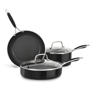 KitchenAid Aluminum Nonstick Onyx Black 5-piece Cookware Set