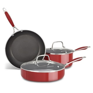 KitchenAid Aluminum Empire Red 5-piece Cookware Set