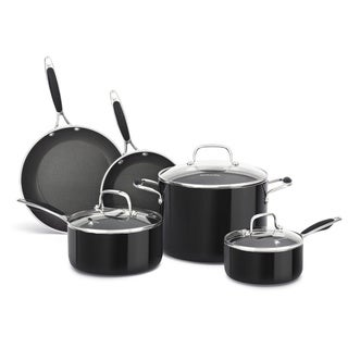 KitchenAid Aluminum Nonstick Black 8-piece Cookware Set