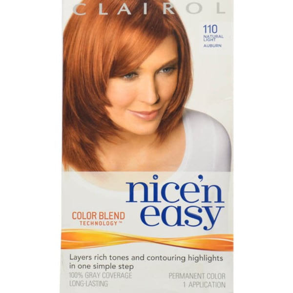 Clairol Nice 'n Easy 112 Natural Dark Auburn 1-application Permanent Hair Color