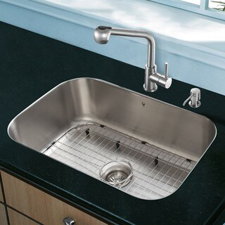 VIGO All in One 23-inch Undermount Stainless Steel Kitchen Sink and Faucet Set