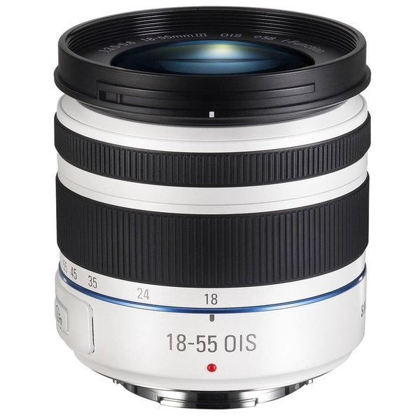 Samsung 18-55mm f/3.5-5.6 OIS Compact Zoom White Lens (New Non Retail Packaging)
