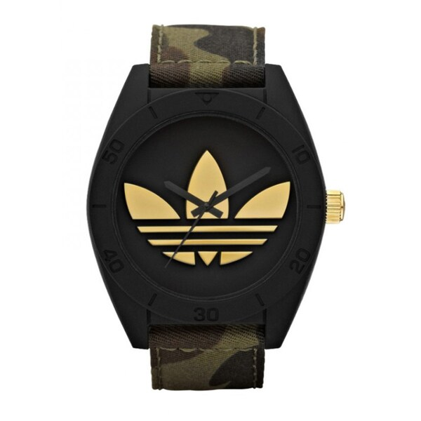 Adidas Men's 'XL Santiago' Camouflage Analog Watch
