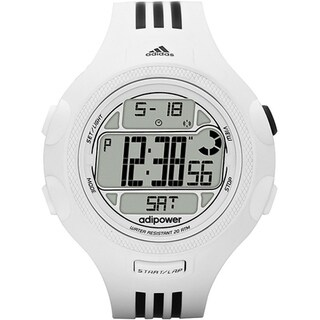 Adidas Men's 'Adipower' White Striped Watch