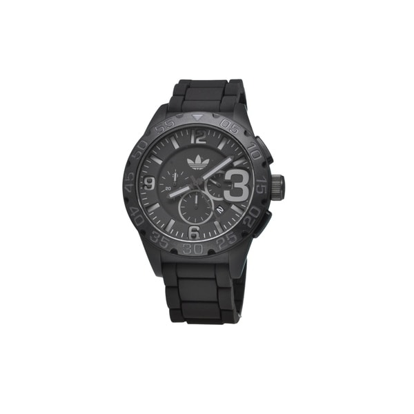 Adidas Men's 'Newburgh' Black Chronograph Watch