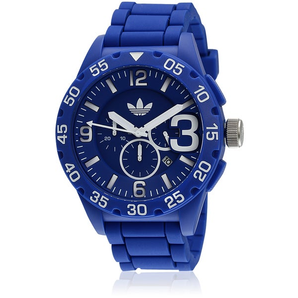 Adidas Men's 'Newburgh' Blue Chronograph Watch