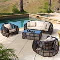 Christopher Knight Home St. Croix Rounded Outdoor 4-piece Seating Set