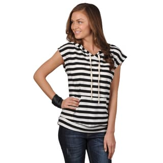 Hailey Jeans Co. Junior's Striped Hooded Top