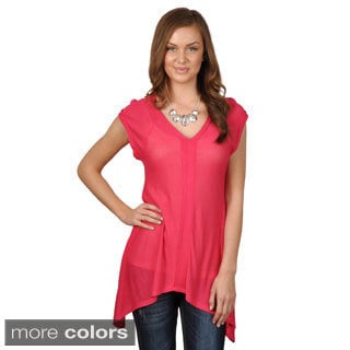 Hailey Jeans Co. Junior's Hacci V-neck Tunic Top
