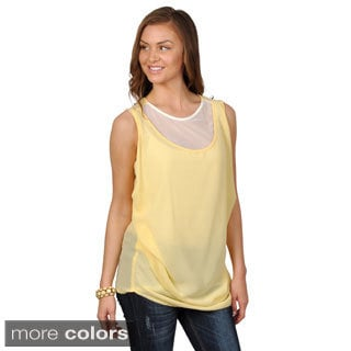 Hailey Jeans Co. Junior's Sleeveless Ruched Top