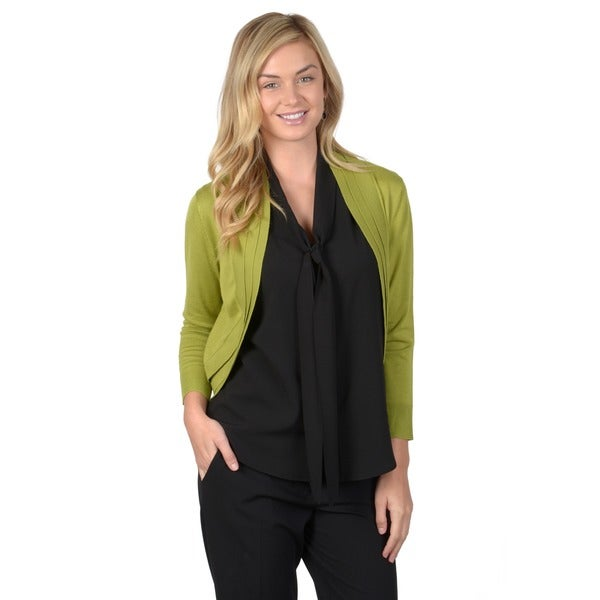 Journee Collection Women's Pleated Long Sleeve Shrug