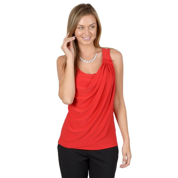 Journee Collection Women's Sleeveless Scoop Neck Tank-Top