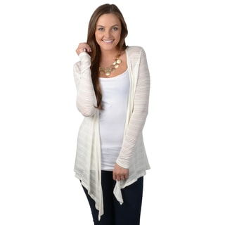 Hailey Jeans Co. Junior's Long Sleeve Open Front Cardigan