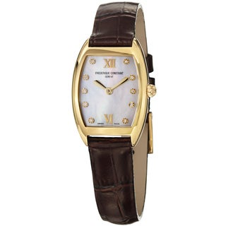 Frederique Constant Women's FC-200MPWD1T25 'Art Deco' Mother of Pearl Dial Watch
