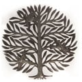 Handcrafted Recycled Steel Oil Drum Tree with Birds Wall Art (Haiti)